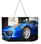 Porsche Cayman S In Sapphire Blue Weekender Tote Bag