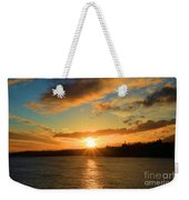 Port Angeles Sunburst Weekender Tote Bag