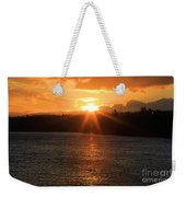 Port Angeles Sunrise Weekender Tote Bag