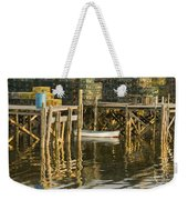 Port Clyde Maine Small Boat And Harbor Weekender Tote Bag