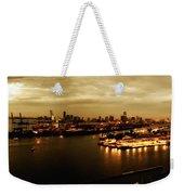 Port Miami Golden Photopaint Weekender Tote Bag
