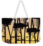 Port Of Seattle Cranes Silhouetted Weekender Tote Bag