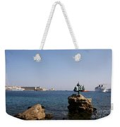 Port Of The Myloi And Dolphins - Rhodos Citys Weekender Tote Bag