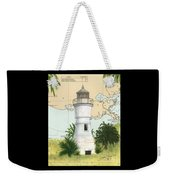 Port Pontchartrain Lighthouse La Chart Map Art Weekender Tote Bag