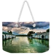 Storm Clouds Over  Port Royal Boathouses In Naples Weekender Tote Bag