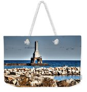 Port Washington Breakwater Light Weekender Tote Bag