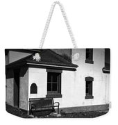 Port Wilson Lighthouse Bench Bw Weekender Tote Bag