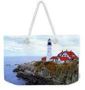 Portland Head Light House In Maine Weekender Tote Bag