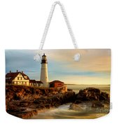 Portland Head Lighthouse At Dawn Weekender Tote Bag