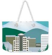 Portland Oregon Vertical Skyline Weekender Tote Bag