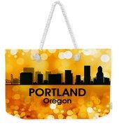 Portland Or 3 Weekender Tote Bag