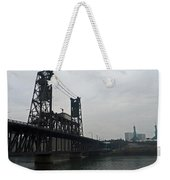 Portland Oregon Steel Bridge Weekender Tote Bag