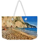 Porto Katsiki Beach In Lefkada Island Weekender Tote Bag by George Atsametakis