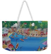 Portofino, Italy, 2012 Acrylic On Canvas Weekender Tote Bag