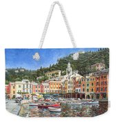 Portofino Italy Weekender Tote Bag by Mike Rabe