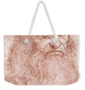 Portrait Of A Bearded Man Weekender Tote Bag by Leonardo da Vinci