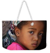 Portrait Of A Berber Girl Weekender Tote Bag by Ralph A  Ledergerber-Photography