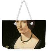 Portrait Of A Lady As Saint Lucy Weekender Tote Bag