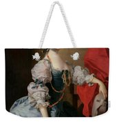 Portrait Of A Lady In A Blue Gown Weekender Tote Bag