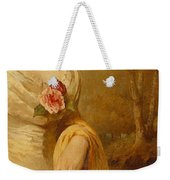 Portrait Of A Lady In A White Dress Weekender Tote Bag