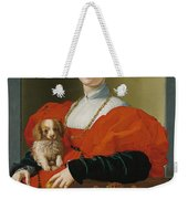 Portrait Of A Lady With A Lapdog Weekender Tote Bag