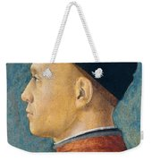 Portrait Of A Man Weekender Tote Bag by Andrea Mantegna