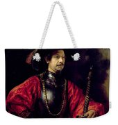 Portrait Of A Man In Military Costume Weekender Tote Bag
