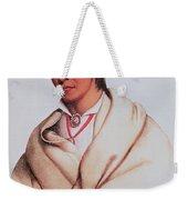 Portrait Of A-mis-quam, A Winnebago Brave Coloured Engraving Weekender Tote Bag