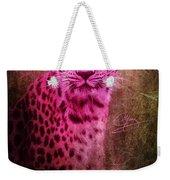 Portrait Of A Pink Leopard Weekender Tote Bag