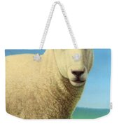 Portrait Of A Sheep Weekender Tote Bag
