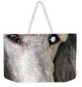 Portrait Of A Silver Poodle Weekender Tote Bag