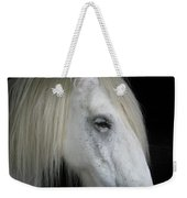 Portrait Of A White Horse Weekender Tote Bag