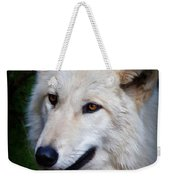 Portrait Of A White Wolf Weekender Tote Bag