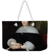Portrait Of A Woman Oil On Canvas Weekender Tote Bag