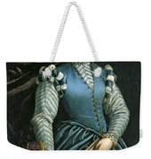 Portrait Of A Woman With A Dog Weekender Tote Bag