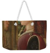 Portrait Of A Woman With A Man At A Casement Weekender Tote Bag