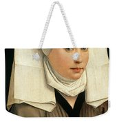 Portrait Of A Woman With A Winged Bonnet Weekender Tote Bag
