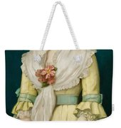 Portrait Of A Young Girl Weekender Tote Bag by George Chickering Munzig
