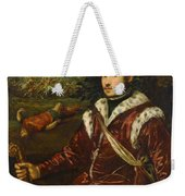Portrait Of A Young Man As David Weekender Tote Bag