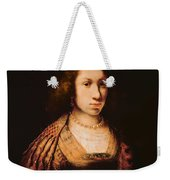 Portrait Of A Young Woman With A Carnation, C.1642 Oil On Canvas Weekender Tote Bag