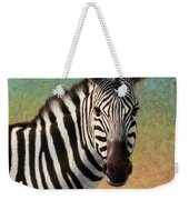 Portrait Of A Zebra - Square Weekender Tote Bag