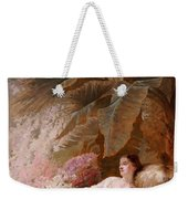 Portrait Of Adelaide Maria Guiness Reclining On A Sofa In A Conservatory Weekender Tote Bag