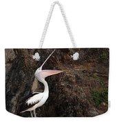 Portrait Of An Australian Pelican Weekender Tote Bag