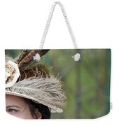 Portrait Of An Edwardian Woman With Feathered Hat Weekender Tote Bag