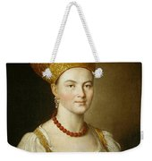 Portrait Of An Unknown Woman In Russian Costume Weekender Tote Bag