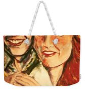 Portrait Of Andrew And Sarah Weekender Tote Bag