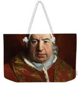 Portrait Of Benedict Xiv Weekender Tote Bag