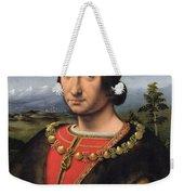 Portrait Of Charles Damboise 1471-1511 Marshal Of France Oil On Panel Weekender Tote Bag