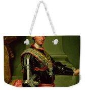 Portrait Of Charles IIi 1716-88 C.1761 Oil On Canvas Weekender Tote Bag