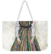 Portrait Of Edith Schiele, The Artists Weekender Tote Bag